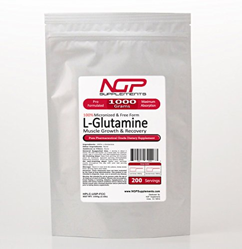 L-GLUTAMINE Powder 1000g (2.2lb) -Free Form -Fast Recovery -Muscle Growth -Pure
