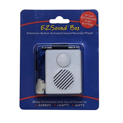 - EZSound Box - 10 inch Extension Play Button for Stuffed Animals, Craft Projects, School Presentations, Hobbies, Personalized Items, Model Trains, etc - 200 seconds - Rerecordable thru Audio Port