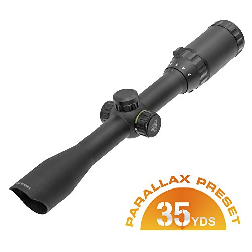 UTG 3-9X32 1 Hunter Scope, Mil-dot, Airgun Rings, Adj@35Yds