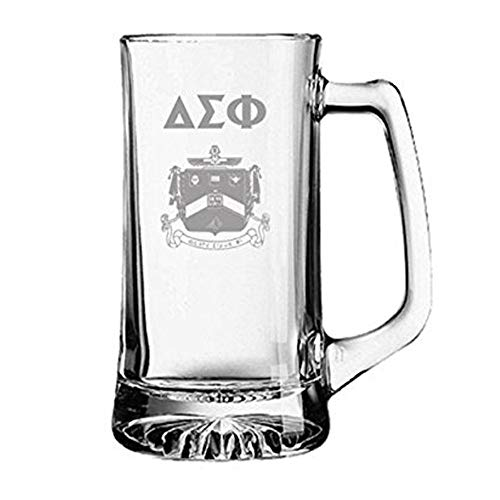 (Greekgear Delta Sigma Phi Glass Engraved Mug Transparent)