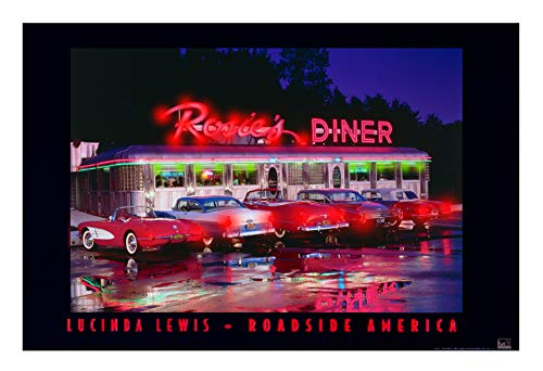 CAR CULTURE LED Framed Illuminated Print (Rosie's Diner LED Framed Illuminated Print)