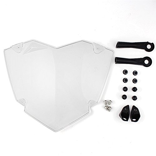 FATExpress Motorcycle Clear Plastic Front Headlight Guard Cover Protector Lens Protection For 2013-2017 BMW R1200GS R 1200 GS ADV WC 2014 2015 2016 13-17