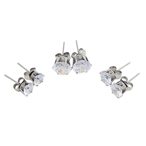Sohapy-Stainless-Steel-Round-Clear-Cubic-Zirconia-Diamond-Rhinestone-Stud-Earrings-Roseate-Jewelry-6-Pairs-Color-Silver
