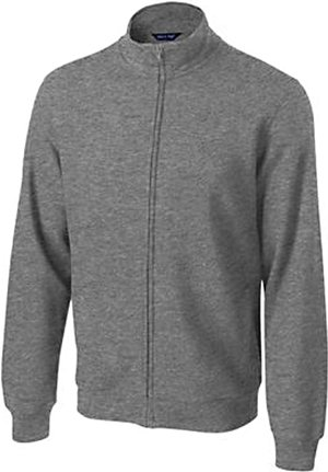 (Sport-Tek Men's Full Zip Sweatshirt,Medium,Vintage Hthr)