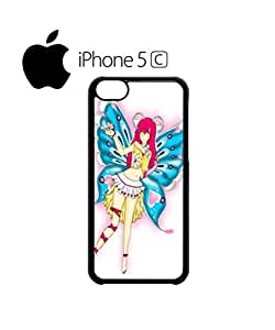 LJF phone case Butterfly Fearie Animation Mobile Cell Phone Case Cover iphone 6 4.7 inch Black