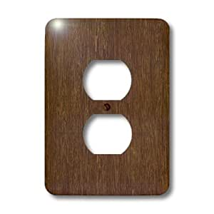 3dRose LLC lsp_41591_6 Dark Bamboo Wood, 2 Plug Outlet Cover