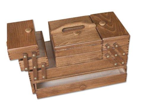 Aumueller - Scatola da cucito, in legno di faggio, dimensioni: 45 x 24 x 32 cm, colore: legno 31/208/2