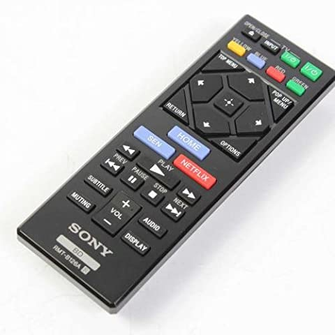 Genuine Sony RMT-B126A Remote Control For Blu-ray Dvd players Including BDPBX120, BDPBX320, BDPBX520, BDP-BX620, BDPS1200, BDPS2200, BDPS2100, BDPS3200, BDPS5200, BDPS6200, (Blu Ray Sony Bdp S6200)