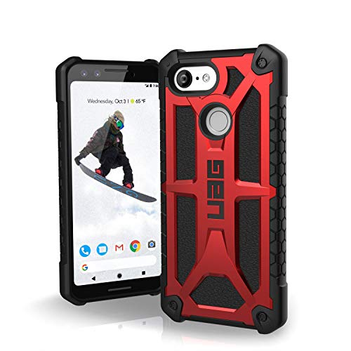 (URBAN ARMOR GEAR UAG Google Pixel 3 [5.5-inch Screen] Monarch Feather-Light Rugged [Crimson] Military Drop Tested)