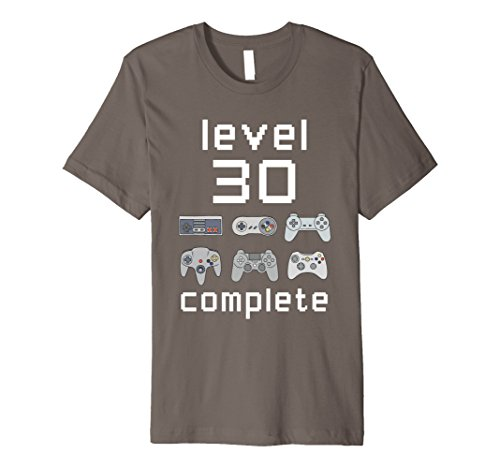 Mens Level 30 Complete Shirt Funny Gamer 30th Birthday Gift Shirt XL Asphalt Gift For Men 30th Birthday