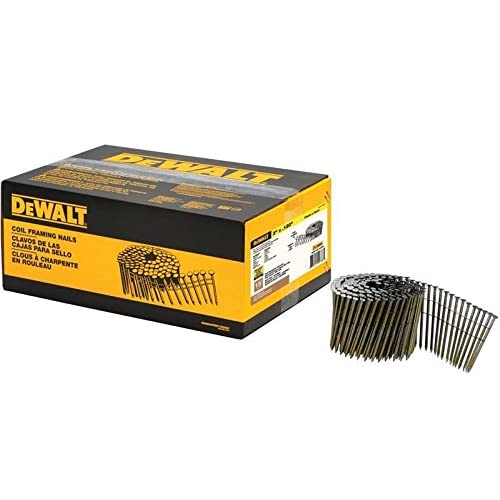 Image of DEWALT DWC10P120DG Coil Framing Nail, 3' L, Round Head, 3' L, Diamond Point, 0.12' Smooth Shank, Metal