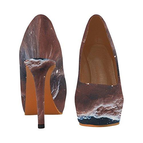 Jeans De Fleur Dintérêt Dimpression Femmes Sexy Talons Hauts Pompe Chaussures Ciel Dans La Constellation Dorion