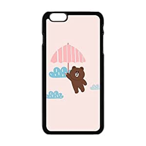 cute bear with pink umbrella personalized high quality cell phone case for Iphone 6 Plus