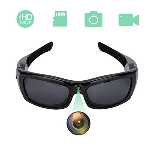 YCTONG Bluetooth Glasses Camera 1080P Hidden Camera Eyeglasses Portable Mini Video Recorder Wearable Camera Surveillance Spy Cams for Office Outdoors Kids