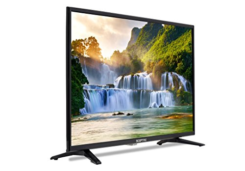1080p High Definition Plasma Tv - Sceptre 32 inch LED 720p HDTV 3X HDMI MHL ASTC/QAM, Metal Black 2019 (X328BV-SR)