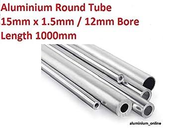 Aluminium Round Tube 8mm x 1mm x 500mm