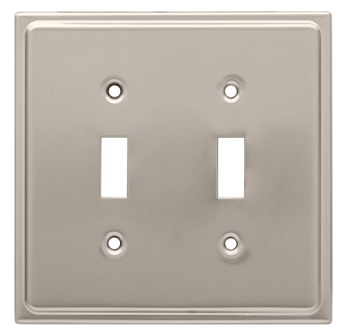 Franklin Brass 126365 Country Fair 2 Toggle Switch Wall Plate, Satin Nickel