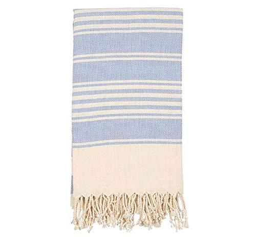 100% Cotton - Anatolia Turkish Towel - Bath Beach Peshtemal - Classic Stripe - 37X70 inches (Black) Ofer Int