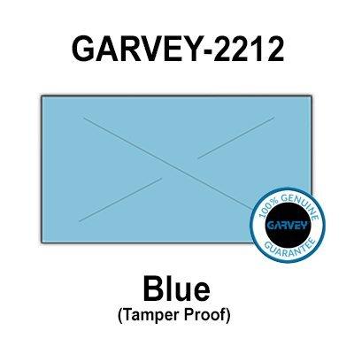 220,000 Genuine GARVEY 2212 Blue General Purpose Labels: Full Case - 20 Ink Rollers - Tamper Proof Security -