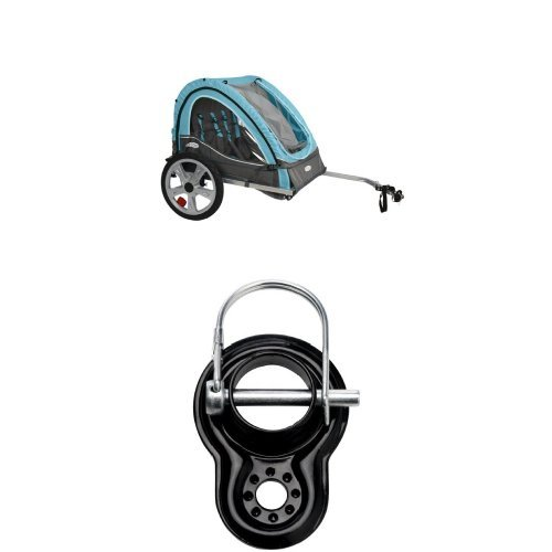 InStep Take 2 Double Bicycle Trailer and Trailer Coupler Attachment - InStep & Schwinn Bike Trailers (SA074) WLM (Instep 2 Bike Trailer)