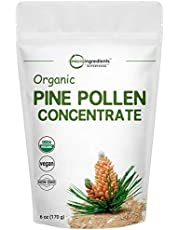USDA Organic Pure Pine Pollen Powder, 6 Ounce, Supports Immune System Health, Boosts Energy, Antioxidant and Androgenic, No GMOs and Vegan Friendly