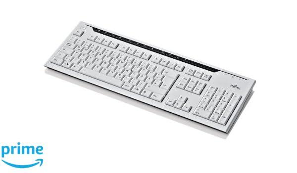 Fujitsu KB520 - Teclado USB y mármol de conducción eléctrica (teclado danés): Amazon.es: Informática