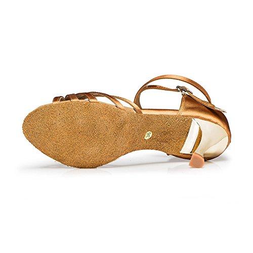 Señoras Zapatos De Baile Latino Baile Zapatos De Chocolate Brown