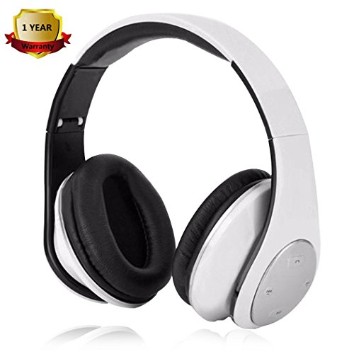 Bluetooth Headphones Noise Cancelling Over Ear Headphones Stereo Deep Bass Driver Wireless Headset Foldable with Mic for Travel Work iPhone X 8 Plus 7 Plus 6S 5S Samsung LG Motorola Huawei ZTE ASUS