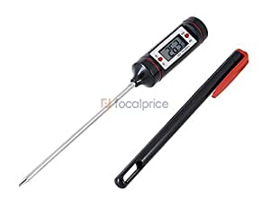 Barbecue Food Meat Digital Thermometer (Black)