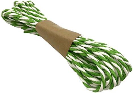 ダブルストランド 紙ロープ コード リボン DIY 工芸品 パーティー/ホーム インテリア 長さ5メートル 3.6ミリメートル 全10色 - グリーン