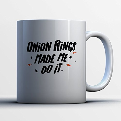 Wise Old Man Costume (Onion Rings Coffee Mug - Onion Rings Made Me Do It - Funny 11 oz White Ceramic Tea Cup - Cute Onion Rings Lover Gifts with Onion Rings Sayings)