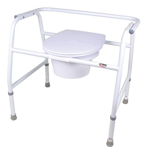 Bedside Commode Extra Wide Steel - 7