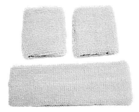 White Retro 80 s Head   Wrist Sweatband Set £4.78 inc P P 171a0d35a4d