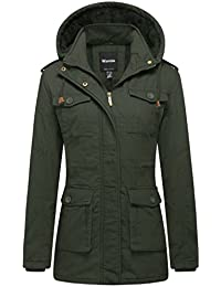 Women's Warm Sherpa Lined Parka Coat with Removable Hood