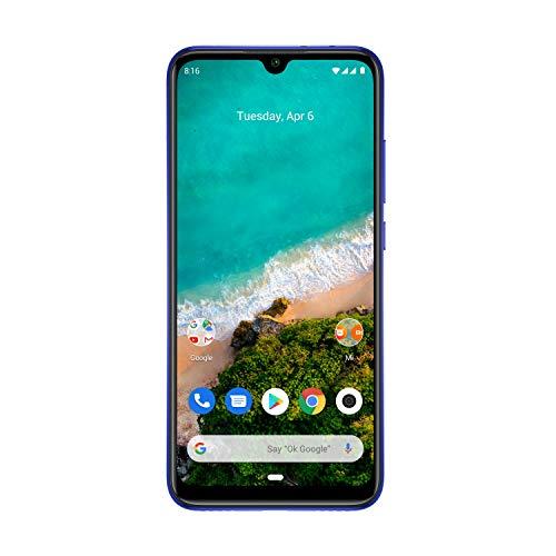 """Xiaomi Mi A3 4G Smartphone, 4 + 64GB, Schermo AMOLED Full-Screen da 6.18"""", Tripla fotocamera da 48 + 8 + 2 MP, 4030 mAh, Qualcomm 665 (Versione Global) (Blu)"""