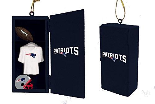 (Team Sports America England Patriots Team Locker Ornament)
