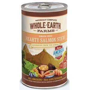 Whole Earth Farms Grain Free Hearty Salmon Stew Canned Dog Food 12*12.7oz