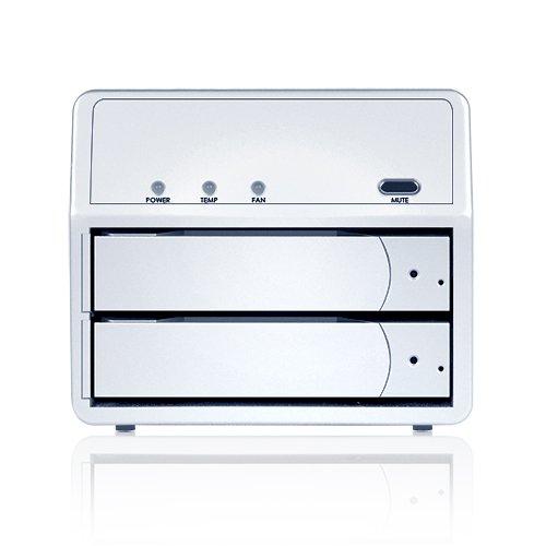 Sans Digital MobileSTOR MS2T+ 2 Bay SATA to eSATA JBOD Hard Drive Storage Enclosure (Silver)