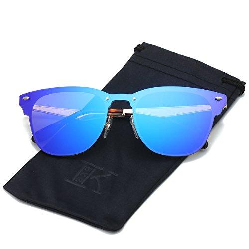 LKEYE Clubmaster Classic Unisex Sunglasses Futuristic Integral Rimless Lens LK1738 - Futuristic Sunglasses