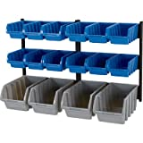 Strongway 16-Bin Wall-Mounted Storage Rack