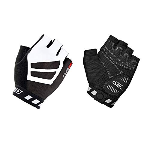 GripGrab - WorldCup - Cycling - Short Finger Gloves (Black/White, M - 9) from GripGrab
