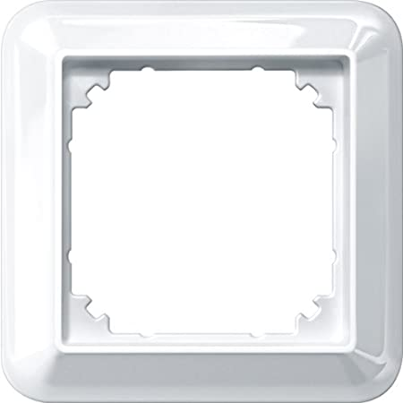 Merten 388119 Atelier-M-Rahmen 1 Fach 1x 1fach polarwei/ß gl/änzend