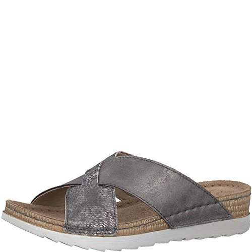 Jana Ladies Slipper 8-27214-20-206 Graphite Gray grau