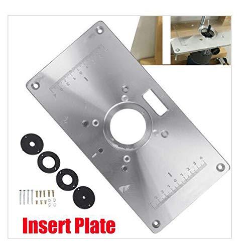 ETbotu - Juego de Platos de extensión de Aluminio, Placa de inserción de Mesa y 4 Anillas, Tornillos de 235 x 120 x 8 mm,...