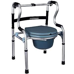 JXXDDQ Silla para discapacitados andadera de aleación de Aluminio ...