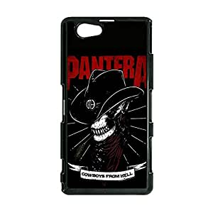 Sony Xperia Z1 Compact / Z1 Mini Phone Cover Shell, Fashion Cool Cowboys Style Heavy Metal Band Pantera Phone Case Cover for Sony Xperia Z1 Compact / Z1 Mini