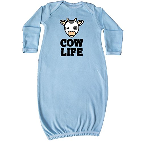 Cow Sleeper - inktastic Cow Life Newborn Layette Light Blue 311df
