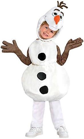 Disney Olaf de Frozen disfraz túnica de (capucha y acolchada ...