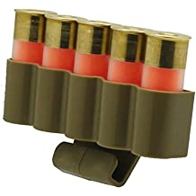 Ultimate Arms Gear Tan 5-Round Shotgun Ammo Shot Shell Cartridge Hunting Carrier Holder Belt Clip Fits 12 GA Gauge, Browning