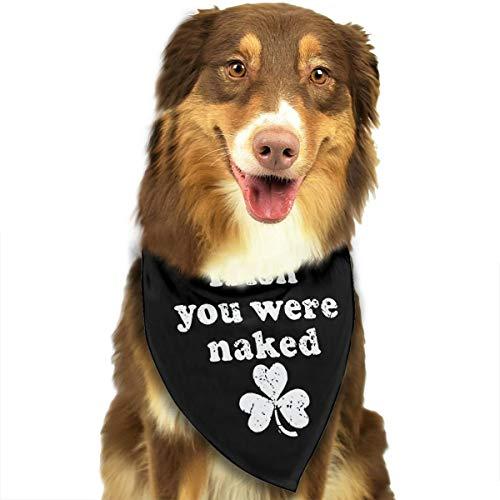 (HJKH PJKL Irish You were Naked Pet Dog Puppy Cat Triangle Bibs Scarf Bandana Collar Neckerchief Mchoice - Any)